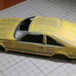 タミヤ 1/24 トヨタ セリカXX 2800GTの製作【8】窓枠&サイドモールの塗装