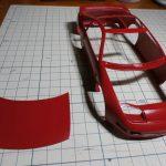 タミヤ 1/24 NISSAN フェアレディZ 300ZX TURBOの製作【2】ボディー&シャーシの塗装