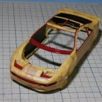 タミヤ 1/24 NISSAN フェアレディZ 300ZX TURBOの製作【7】ボディー窓枠の塗装